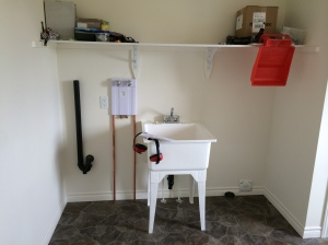 My newly cleaned laundry room!